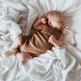 baby grey check organic swaddle