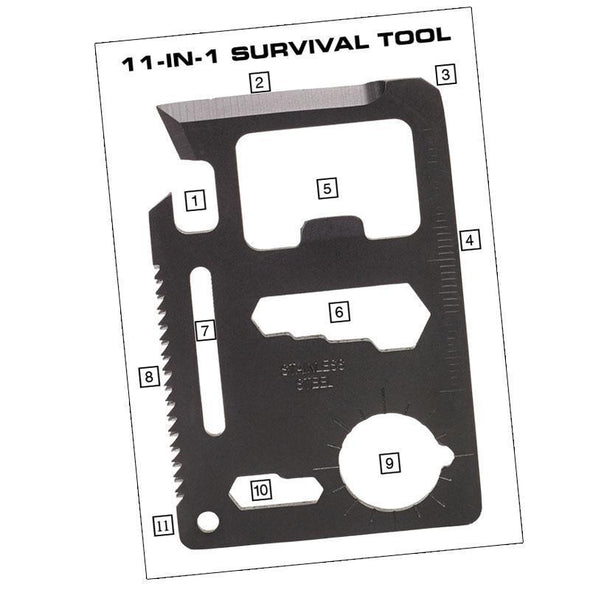 Ndur - 11-in-1 Survival Card Tool