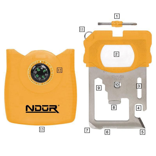 Ndur - Survival  Tool W/ Compass