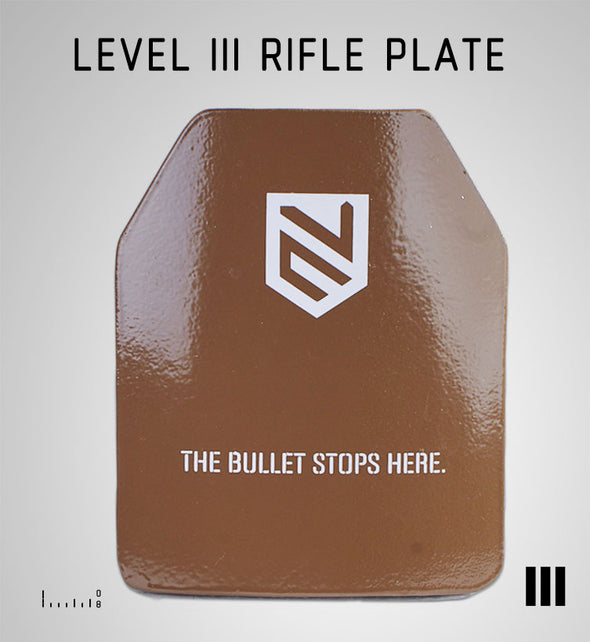 LEVEL III  SHOOTERS CUT RIFLE PLATE TAN 10X12