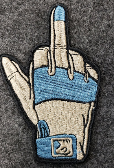 ONE FINGER SALUTE CLOVE HAND MORALE PATCH,