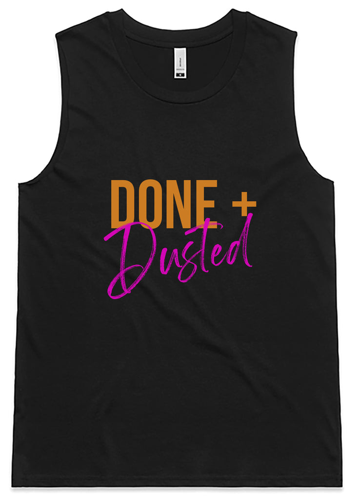 Done and Dusted Tank - Black