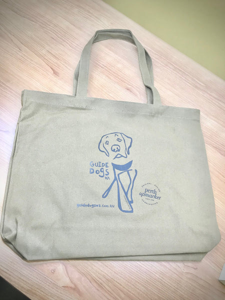 Guide Dog Tote Bag - Khaki