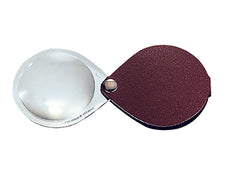 3.5X Eschenbach Classic Folding Pocket Magnifier (dark brown leather cover)