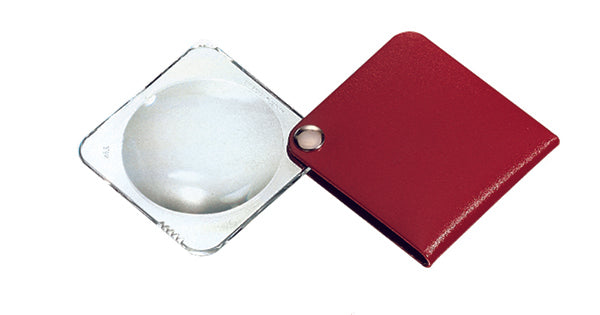 3.5X Pouch Magnifier  RED - Square
