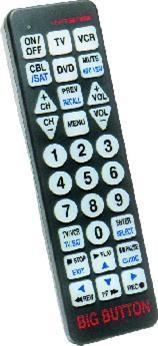 TV Remote Control - Big Buttons