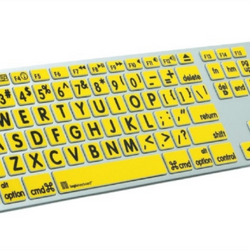 Apple keyboard Skin Black on Yellow