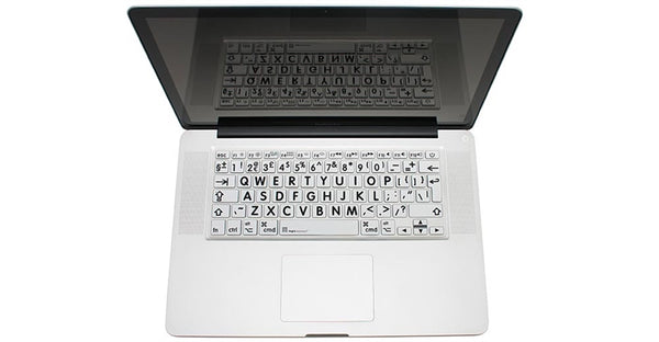 MACBOOK Skin Black on White