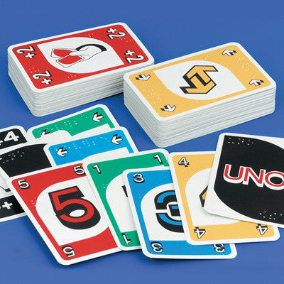 Uno braille playing cards