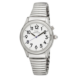 Time Optics Ladies Watch Silver Exp