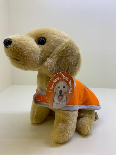 Golden Yellow Guide Dog Plush Toy