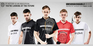 The Unsquashable squash team - Willstrop, Makin, Parker, Masters, and Lee.