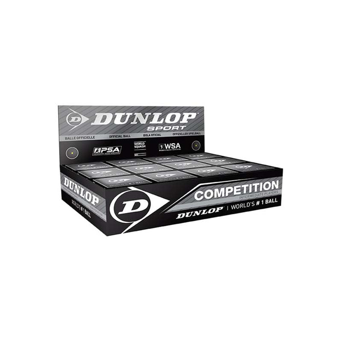 Dunlop Competition Single Yellow Squash Ball (Singles or Packs of 12)