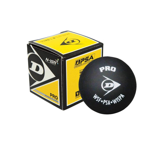 Dunlop Pro Double Yellow Squash Ball - the officail squash ball
