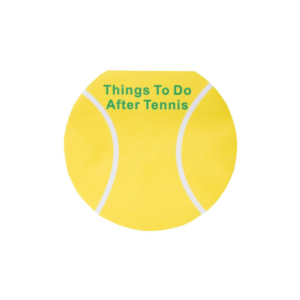 Tennis ball post it notes