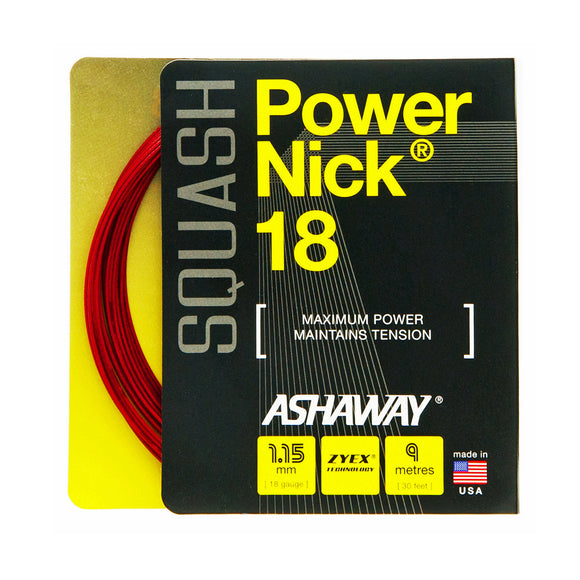 Ashaway Powernick 18 - squash string made for the the power player