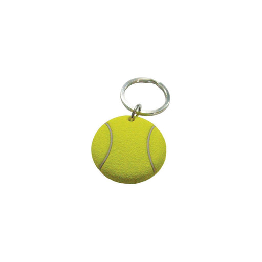 Tenis ball keychain rubber