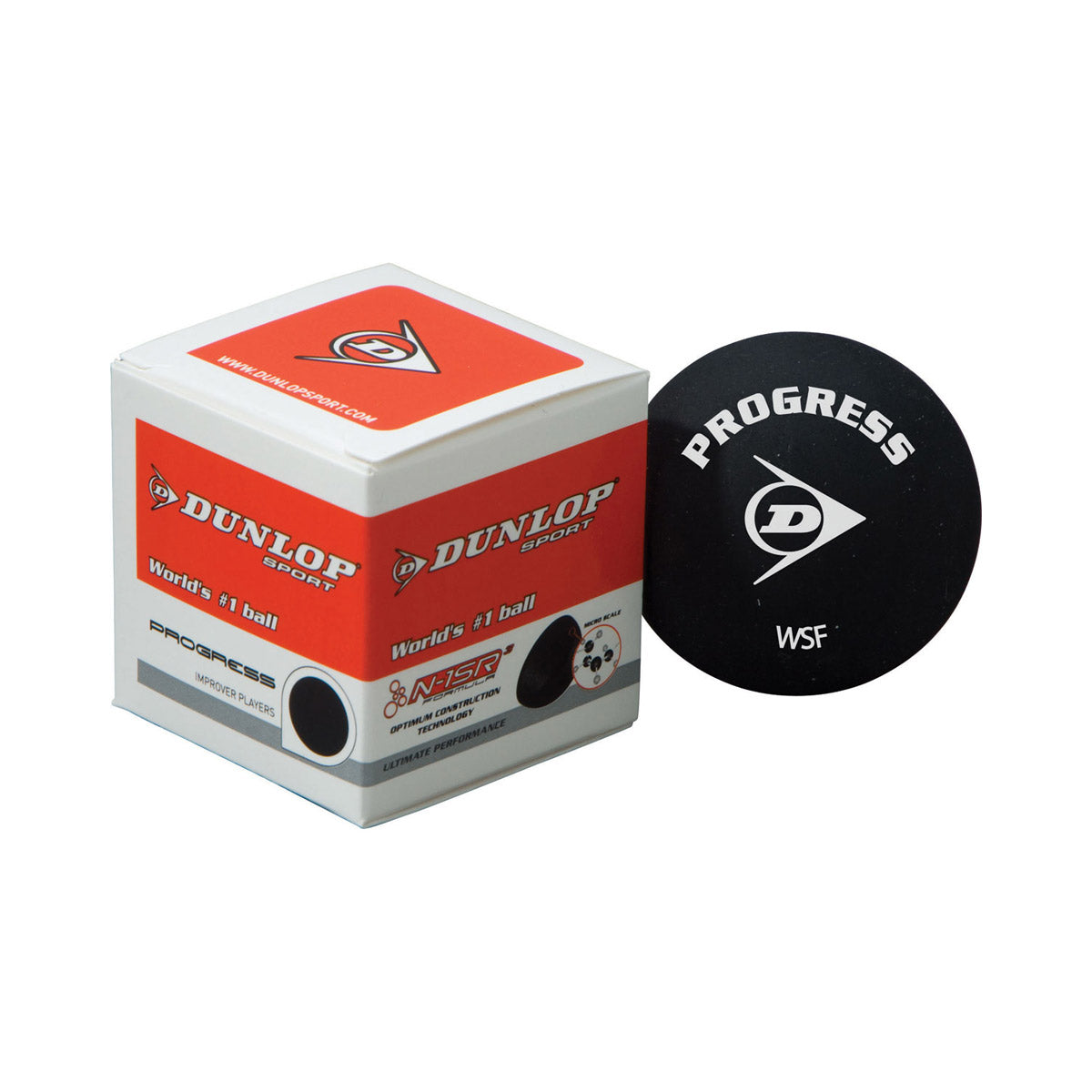 Dunlop Progress Squash Ball single