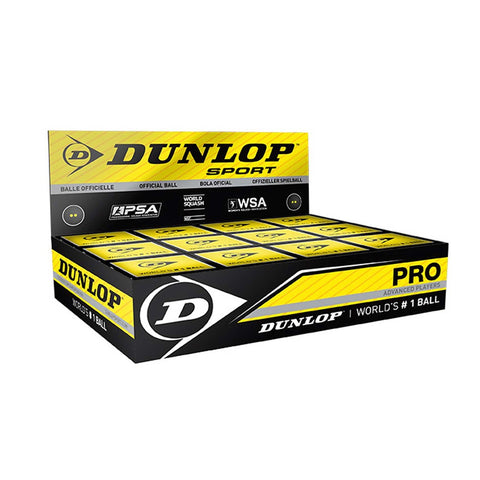 The squash ball for advanced players - Dunlop Pro - dozens