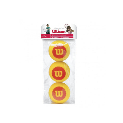 Wilson foam starter tennis balls for ages 8 years and under. Bigger size and soft foam.