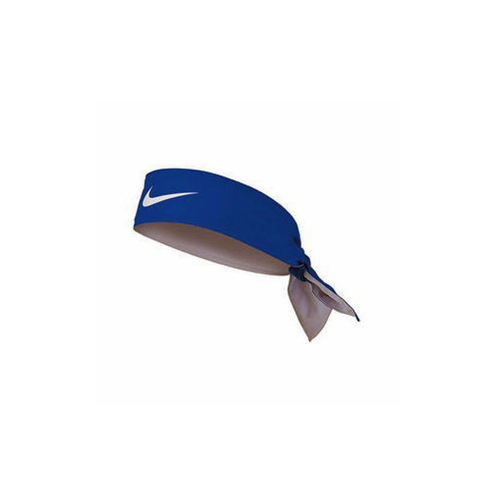nike tie on headband dri fit sweatband blue