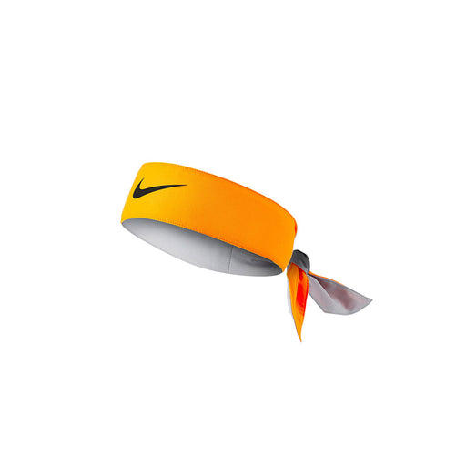 Nike dri fit tie on headband laser orange black color tennis squash badminton pickleball