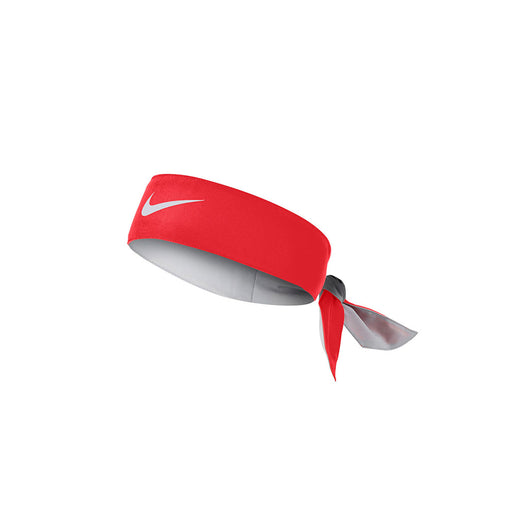 nike dri fit headband tie on red crimson colour color