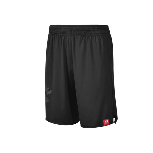 Selkirk Red Label Shorts for pickleball, squash, tennis, and badminton. Black Color with Selkirk logo on right leg.