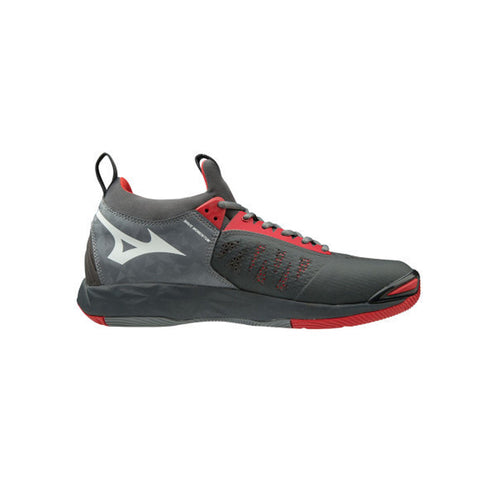 Mizuno Wave Momentum Indoor Court shoe red grey