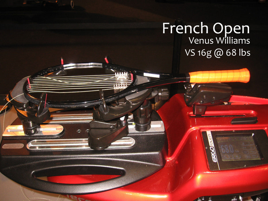 venus williams racquet french open  vs gut @ 68 lbs