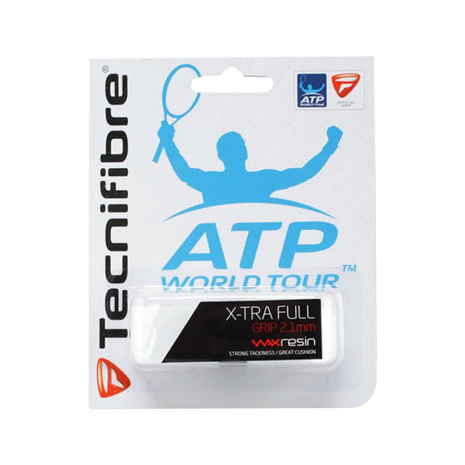 tecnifibre xtra full cushion grip for tenis, squash, badminton or pickleball. Wax resin for more stick. 2.1mm thick