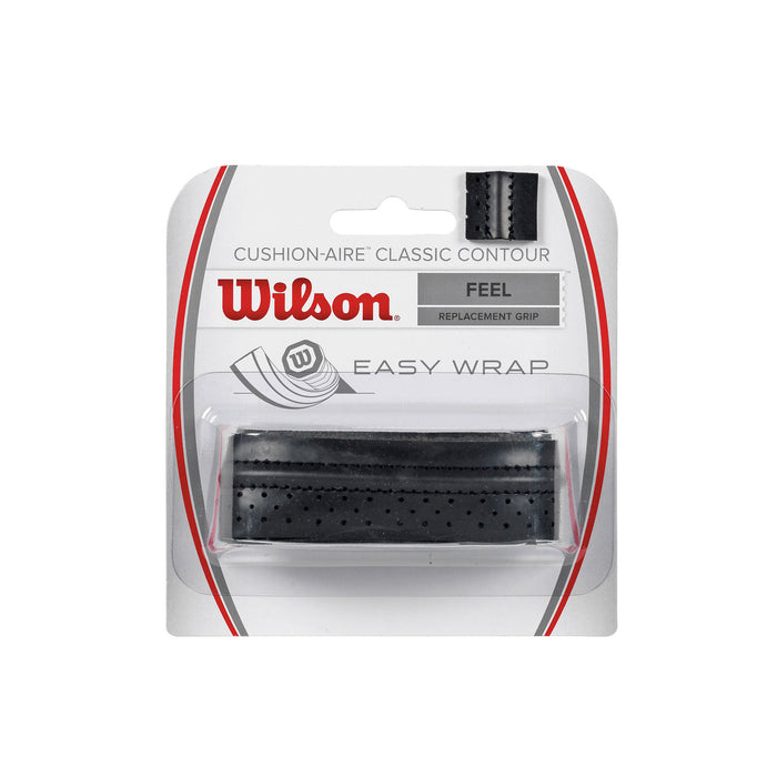 wilson classic contour replacement grip black for squash tennis badminton and pickleball