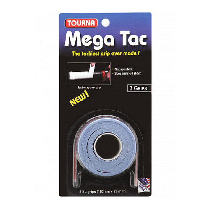 Tourna Mega Tac overgrip for squash, pickleball, tennis and badminton