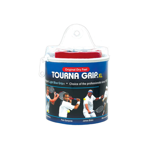 tourna grip xl 30 pack overgrip for tennis pickleball squash and badminton ultimate sweat absorption