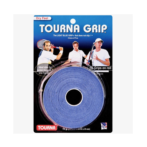 Tournagrip 10 overgrips super absorbent for squash, pickleball, tennis, and badminton.