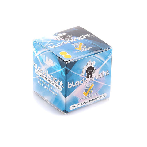Black Knight Tru Bounce Double Yellow Squash Ball (Singles or Packs of 12)