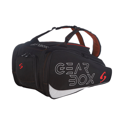 Gearbox ally bag for pickleball racquetball or padel.