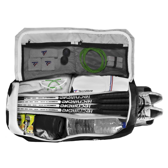 TECNIFIBRE RACKPACK ICON L duffel style bag for squash, tennis, pickleball, and badminton.