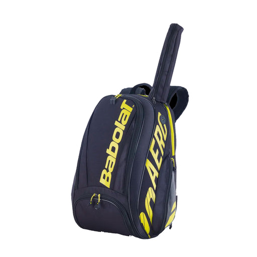 babolat pure aero backpack black yellow tennis squash pickleball badminton
