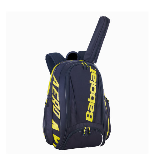 babolat pure aero backpack 183727 black yellow colors tennis squash badminton pickleball