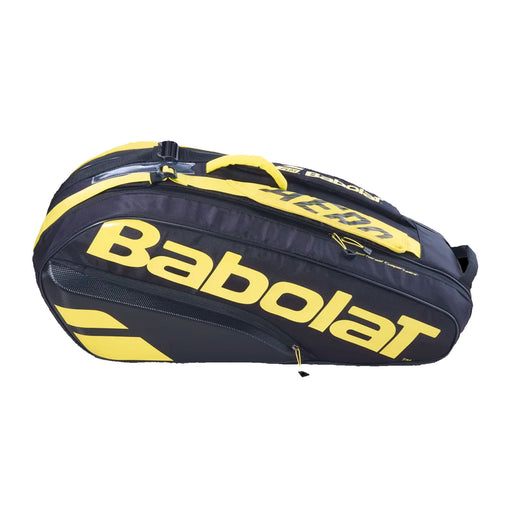 babolat rh x6 racquet bag tennis squash pickleball badminton quality build black yellow 182476 3324921824765