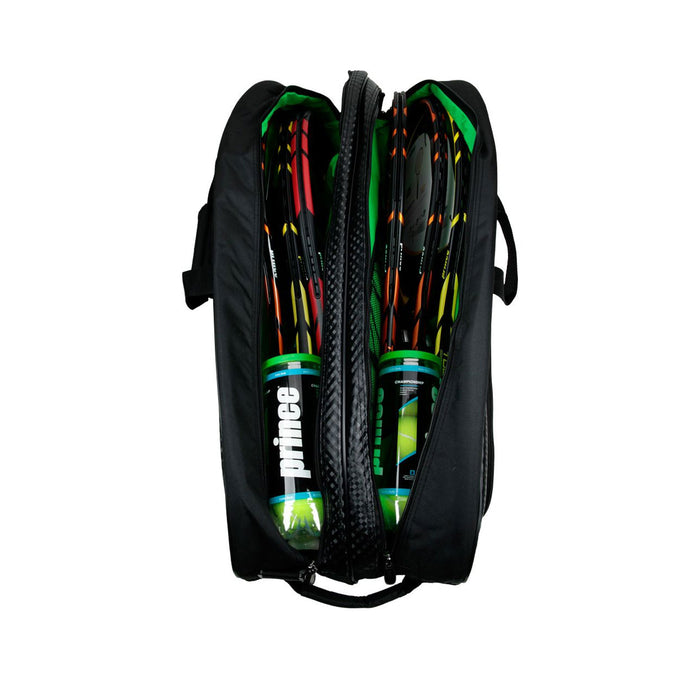 Prince Textreme 6 pack tennis squash badminton bag black Canada Ontario 2 main compartments