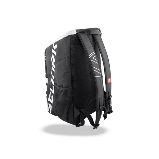 Selkirk team backpack for pickleball multiple pockets strong material comfortable black white color