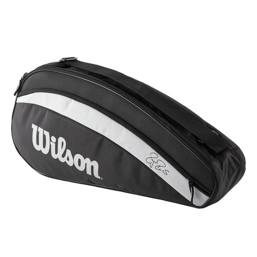 wilson rf team 3 pack tennis squash badminton bag black silver
