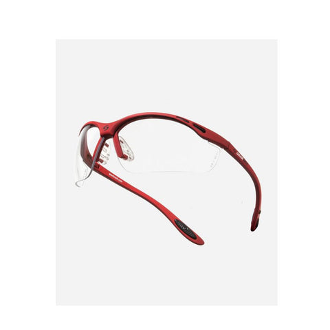 Gearbox Vision glasses - red frames for pickleball, squash, badminton.