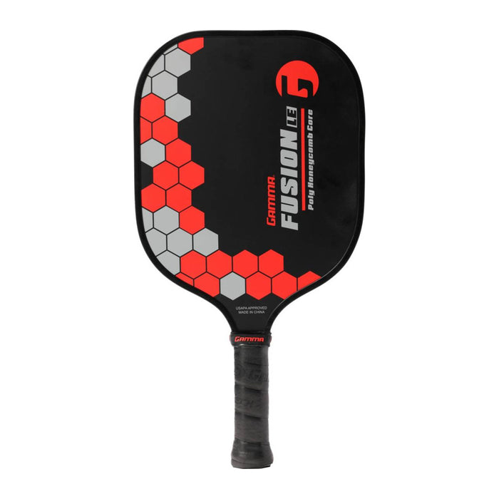 gamma fusion le pickleball paddle beginner honeycomb core textured face for enhanced spin