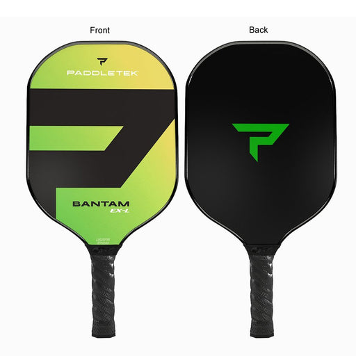 Paddletek Bantam EX-L Green - front and back of the same pickleball paddle, pretty cool.