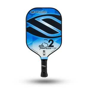 Selkirk S2 Amped Midweight 2020 pickleball paddle model in blue colorway.