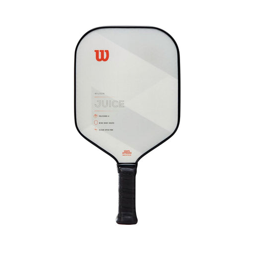 Wilson juice pickleball paddle. Poly honeycomb core white and red.
