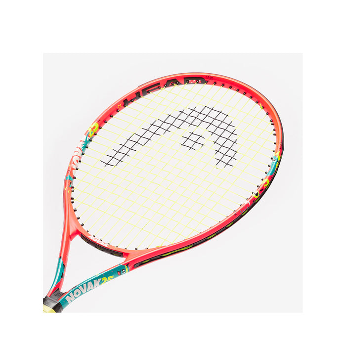 head novak 25 jr tennis racquet junior 8-10 years old inch headsize closeup